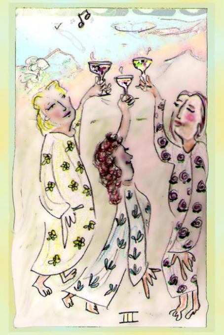 3 of Cups veryshopped; pencil, colored pencil, phoshopt; 2005-2008oct