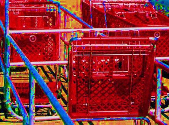 Shopping carts at Target
