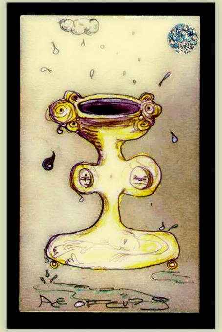 Ace of Cups veryshopped; pencil, colored pencil, phoshopt; 2005-2008oct