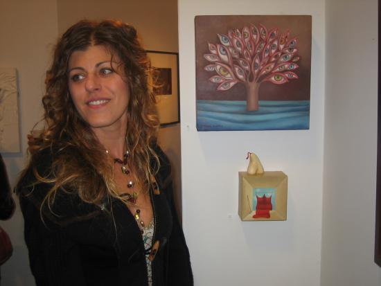 Gallery Guest with Veronica Agostini's work