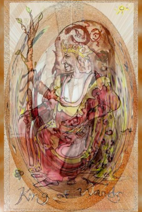 King of Wands VeryVeryShopped; pencil,colored pencil, phoshop; 2005-2009
