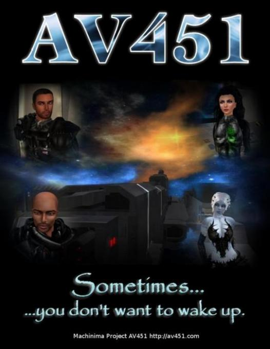 AV451 Movie Poster by Wayne Graves