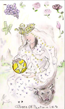 Tarot Deck: Queen of pentacles