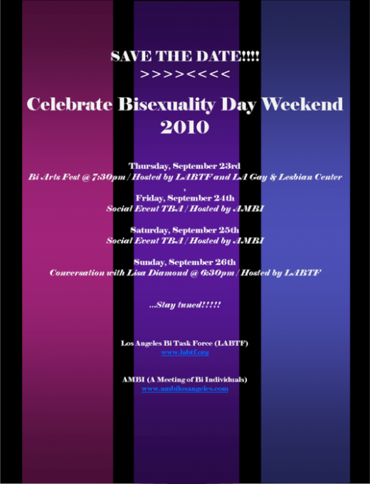 SAVE THE DATE: CBD Weekend 2010