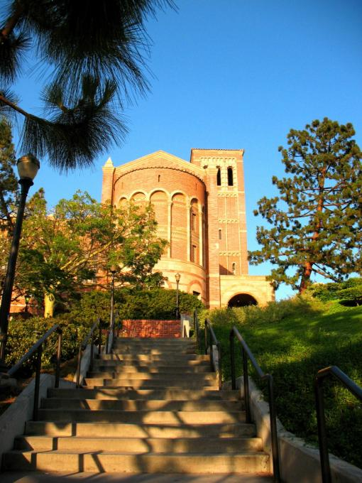 Stairs to knowlege - UCLA Royce Hall