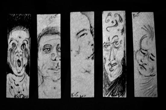 Five of Half-Inch x 2-inch Faces (Scream)