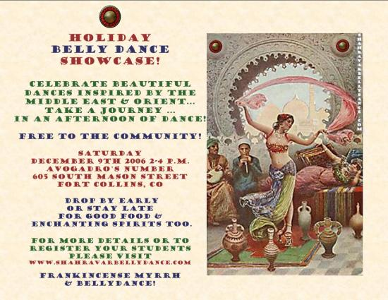 Holiday Belly Dance Showcase