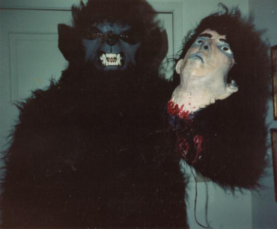 Wolfman costume and my head